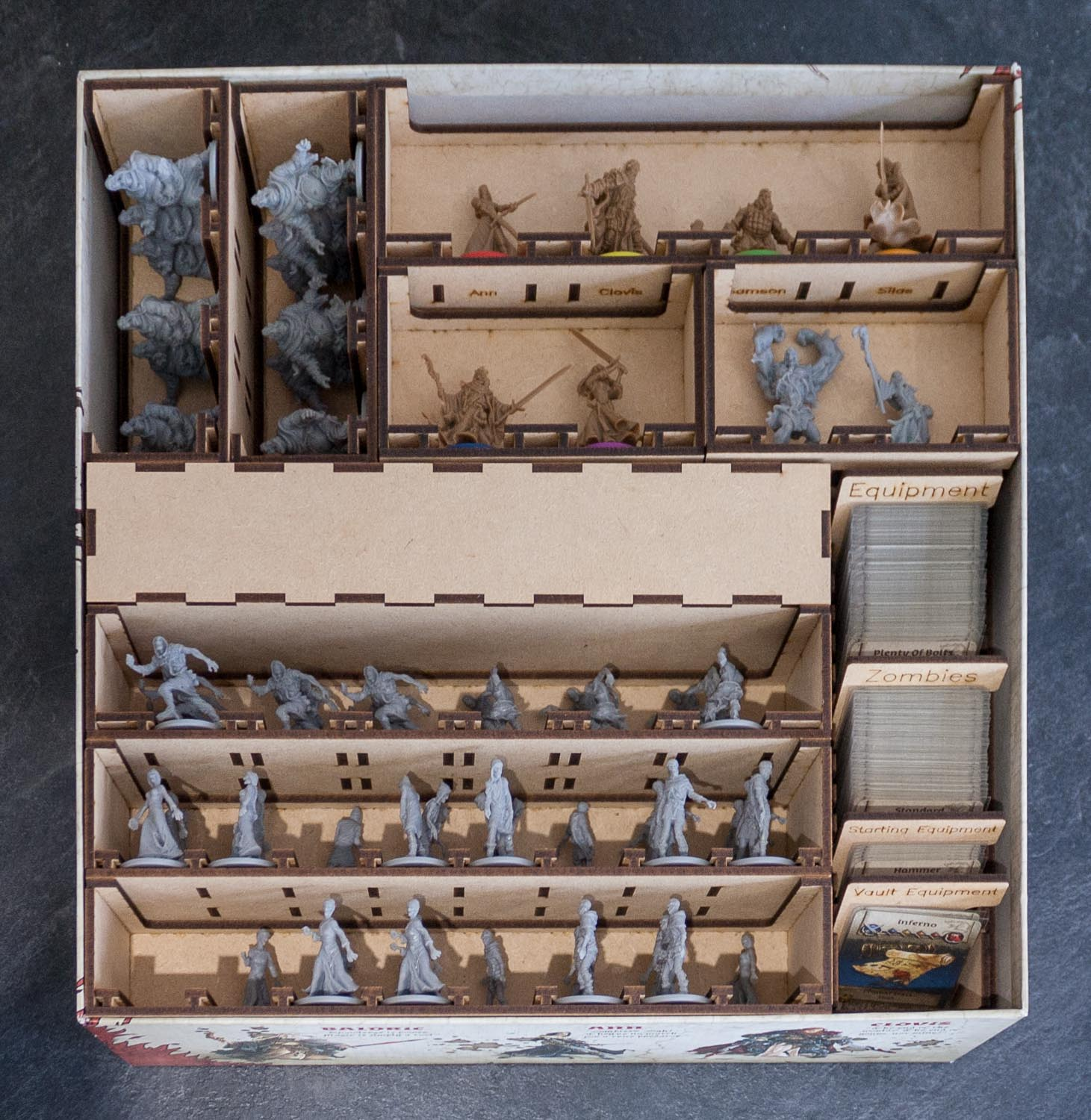 Black Plague Box Organiser - Loaded box