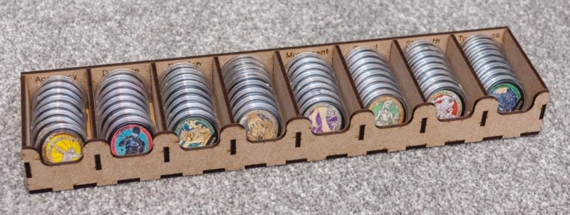 Option 2 Token Tray for capsuled tokens, with game content